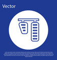 blue line car gas and brake pedals icon isolated vector image vector image