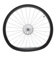 Broken bicycle wheel vector image vector image