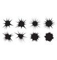 burst set star collection splash design elements vector image