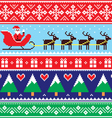 Christmas jumper or sweater seamless pattern vector image vector image