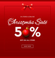 christmas sale web banner template vector image vector image
