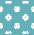 clock pattern seamless blue vector image vector image