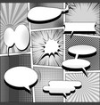 comic book monochrome style background vector image vector image