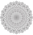 Complex detailed black Mandala on white background vector image vector image