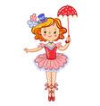 cute circus girl vector image vector image