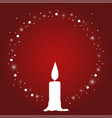 decorative christmas candle vector image vector image