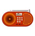 digital radio icon cartoon style vector image