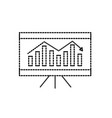 dotted shape business statistic graph with vector image vector image