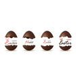 easter broken egg 3d chocolate brown open eggs vector image