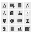 education icon set isolated vector image