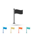 flag icon isolated location marker symbol vector image