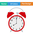 Flat design icon of Alarm clock vector image