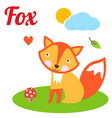 FoxLetter vector image vector image