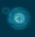Futuristic interface with many geometric shapes
