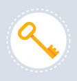 golden vintage key icon lock safety concept flat vector image