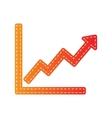 Growing bars graphic sign Orange applique vector image vector image