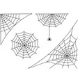 halloween spider web and spider isolated on white vector image