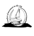 Hand Drawn Balancing one wheel vector image