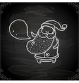 Hand Drawn Father Christmas vector image vector image
