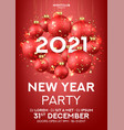 happy new year party poster vector image vector image