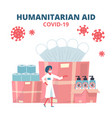 humanitarian support goodwill mission vector image vector image