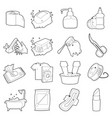 hygiene cleaning icons setoutline style vector image vector image
