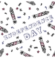 Independence day celebration card with text vector image vector image