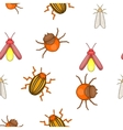 Insects pattern cartoon style vector image vector image