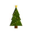 isolated christmas tree icon vector image vector image