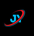jy j y letter logo design initial letter jy vector image vector image