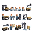 Logistics and Warehouse Icons vector image vector image