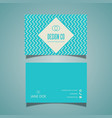 low poly business card design vector image vector image