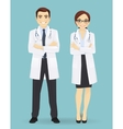 male and female doctors isolated vector image vector image