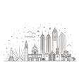 manila philippines city skyline vector image