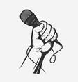 microphone in hand song karaoke vector image vector image