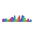 Minneapolis skyline - multicolor line art vector image vector image