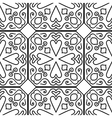 Moroccan floral monochrome seamless ornament vector image vector image