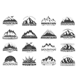 Mountain Travel Labels vector image vector image