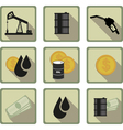 oil flat icon vector image vector image