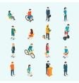 people Set of woman and man vector image vector image