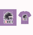 perfect summer stylish graphic tee design poster vector image vector image