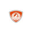 phoenix fire bird abstract logo template vector image