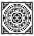 polynesian tribal mandala greeting card vector image vector image