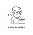 programmer line icon linear concept vector image vector image