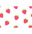 raspberries seamless pattern vector image vector image