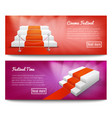 red carpet stairs banners vector image