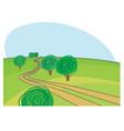 rural road vector image vector image