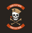 sailor skull logo design vector image