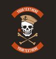 Sailor skull logo design