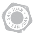 San Juan stamp vector image